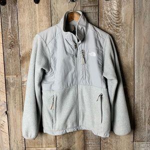 The North Face fleece Zip Up Jacket M Silver Grey